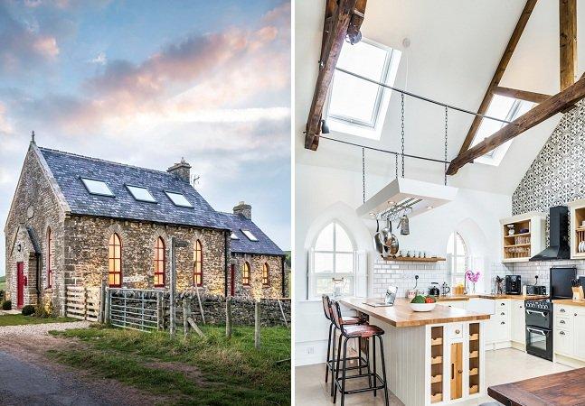 A incrível transformação de uma antiga capela em casa de férias na natureza