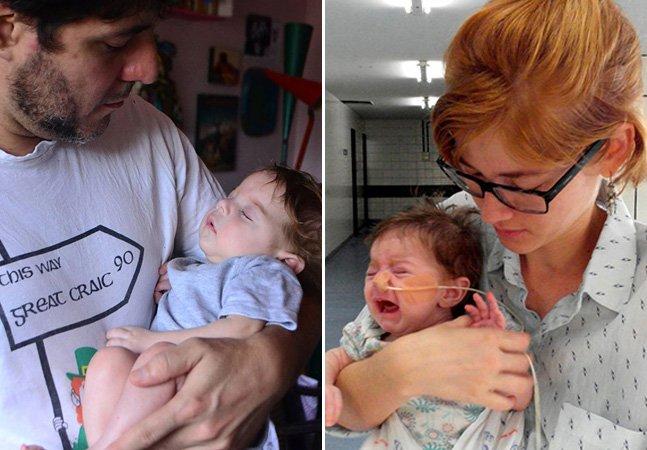 Pais conseguem ajuda na internet para cuidar de bebêque só para de chorar quando ninado