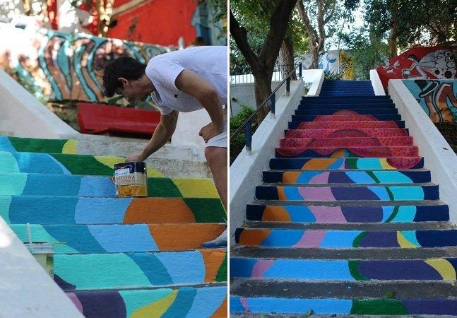 Olhe o degrau: coletivo urbano revitaliza as escadarias abandonadas da cidade de São Paulo