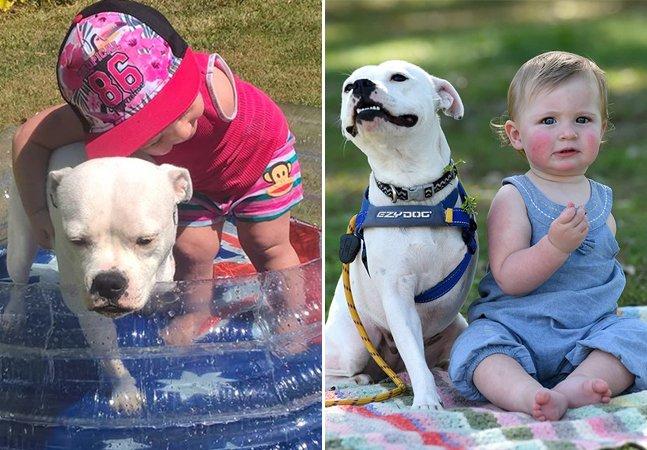 A amizade entre uma menina que nasceu com um só braço e sua cadelinha de 3 patas