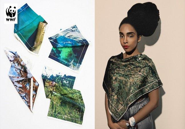 Marca de moda sustentável cria lenços para lutar pela preservação do planeta