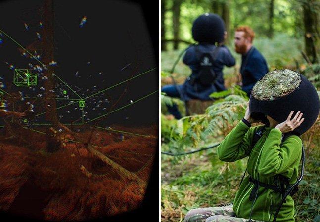 Instalação permite que visitantes enxerguem a floresta pelos olhos de um animal