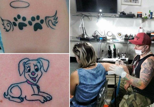 """Tatuador brasileiro oferece """"tattoo pet"""" para quem doar ração para ajudar animais em risco"""
