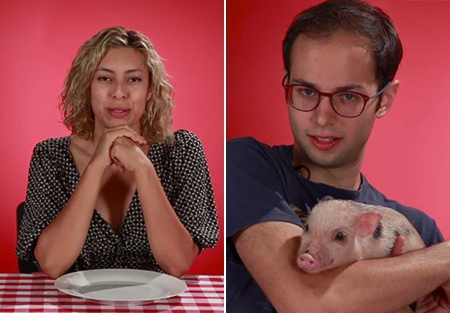 Experimento coloca amantes de bacon frente a frente com porquinhos fofos