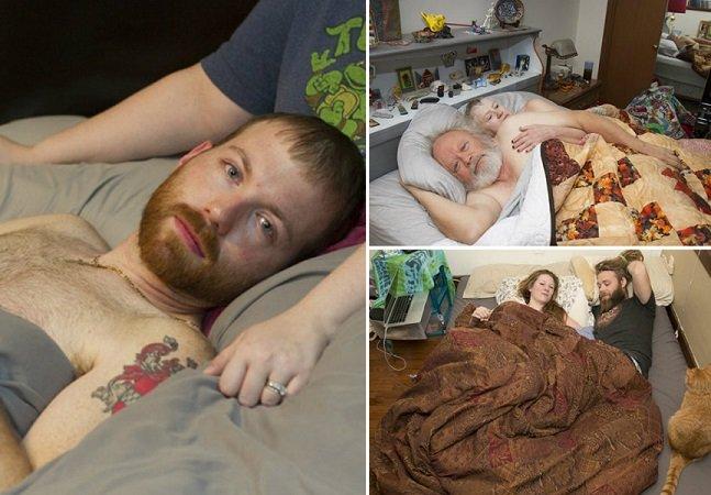 Fotógrafo capta pessoas ao acordar para retratar a vulnerabilidade humana