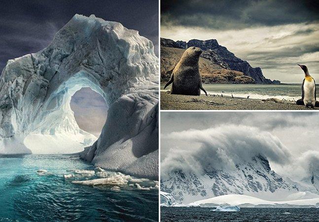 Fotógrafo viaja até a Antártida e retrata a beleza de lugares com temperaturas extremas