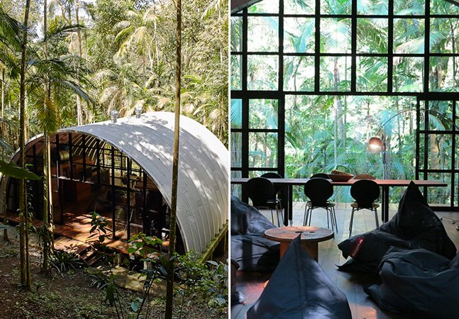 Arquitetos criam incrível casa sustentável na Mata Atlântica feita para estimular a criatividade