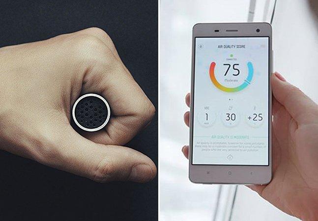 Gadget inovador permite verificar a qualidade do ar em tempo real