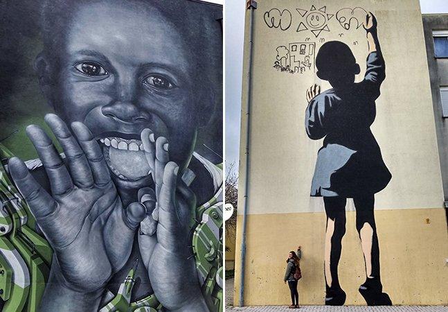 Bairro carente em Portugal é transformado em galeria de arte a céu aberto