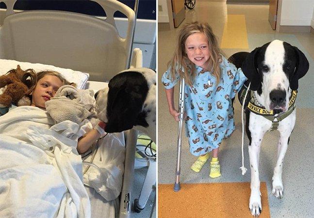 Como um cachorro fez com que uma menina com doença rara pudesse voltar a andar