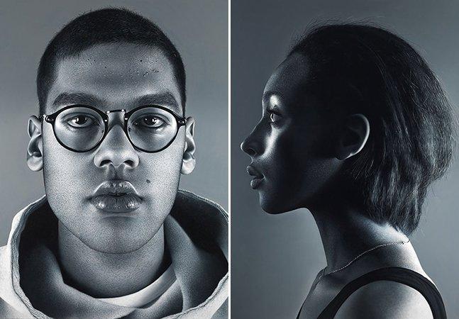 Artista cria série de retratos hiperrealistas que mais parecem fotografias
