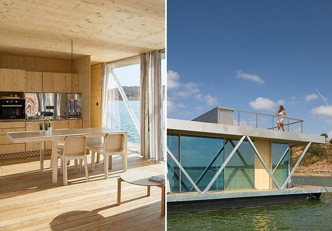 Esta incrível casa flutuante permite que você tenha um teto enquanto navega e viaja o mundo