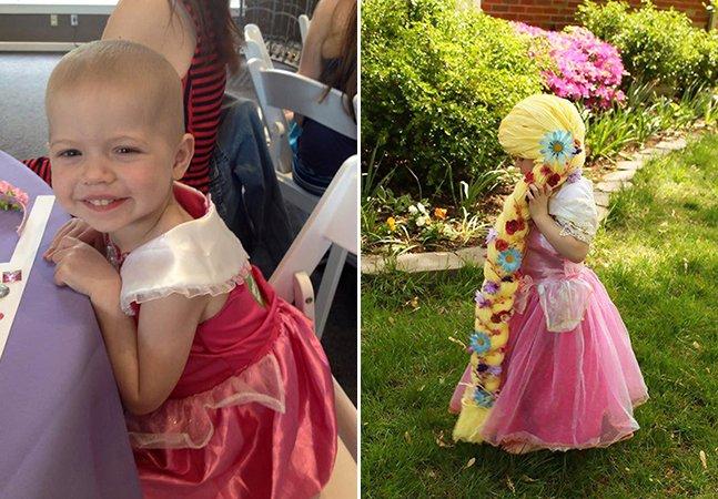 Mãe se inspira em princesas da Disney para levar alegria a crianças com câncer