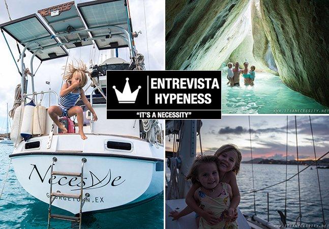 Entrevista Hypeness: fomos conversar com o casal que está navegando pelo mundo com as duas filhas