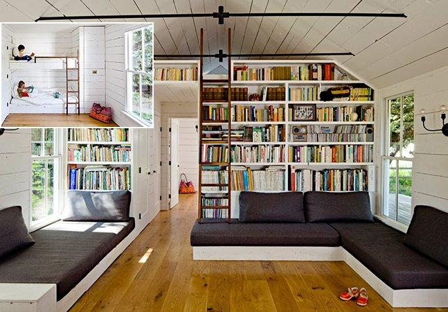 Casal usa materiais reciclados para transformar cabana de 50 m² em casa incrível