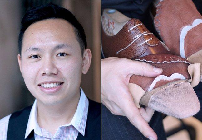 Ele deixou seu emprego estável para viajar o mundo e aprender a fazer sapatos artesanalmente