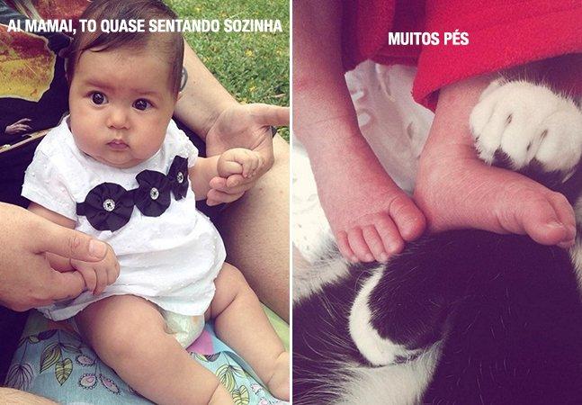 Brasileiro registra o cotidiano  da filha recém-nascida  como se ela falasse