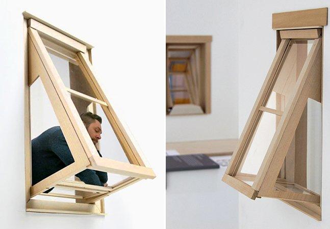 Designer cria janelas para que quem tem apartamentos pequenos possa ver melhor o céu