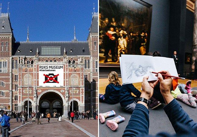 Museu desafia pessoas a dispensar câmeras e desenhar para apreciar o que veem
