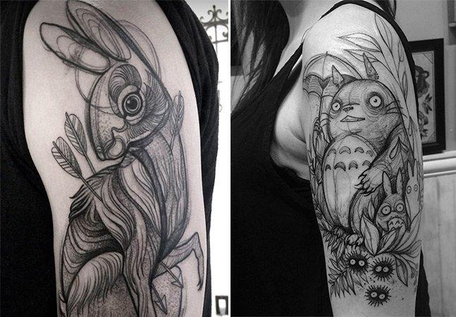 Tatuador cria obras incríveis que parecem feitas com lápis