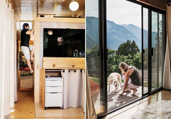 Casal transforma trailer de madeira em casa para viajar o mundo com seu cachorro