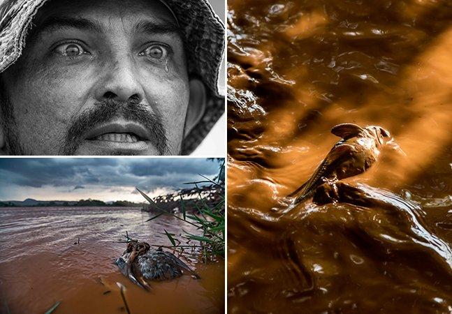 Série de fotos impressionante registra os avanços da lama no Rio Doce