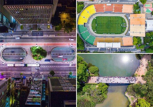 Brasileiro clica imagens aéreas de São Paulo que vão te fazer olhar pra cidade de um jeito diferente