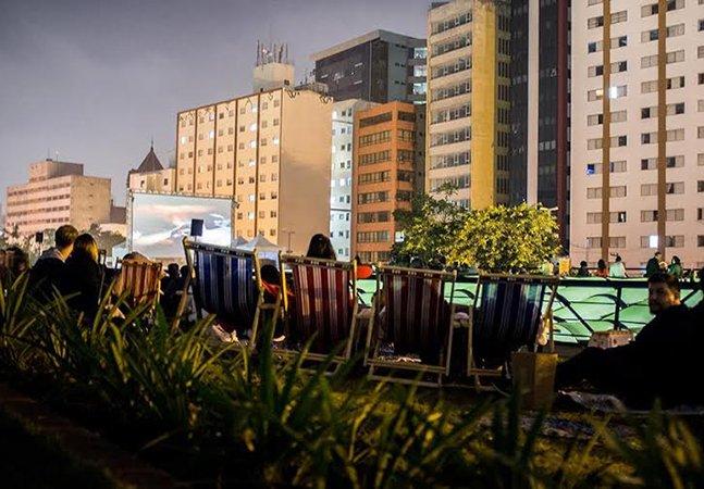 Jardim suspenso em São Paulo exibe filme de Woody Allen ao ar livre
