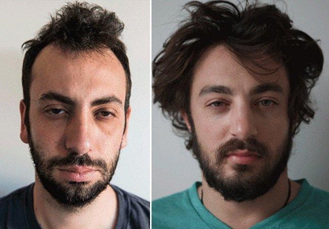 Série de GIF's mostra as mudanças no rosto das pessoas depois de uma xícara de café