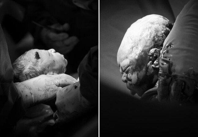 Série intensa mostra o exato momento em que bebês chegam ao mundo