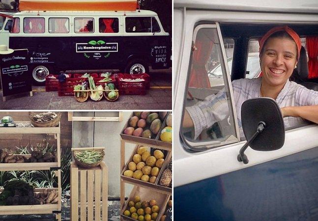 Amigos brasileiros usam kombi para vender alimentos saudáveis de forma inovadora