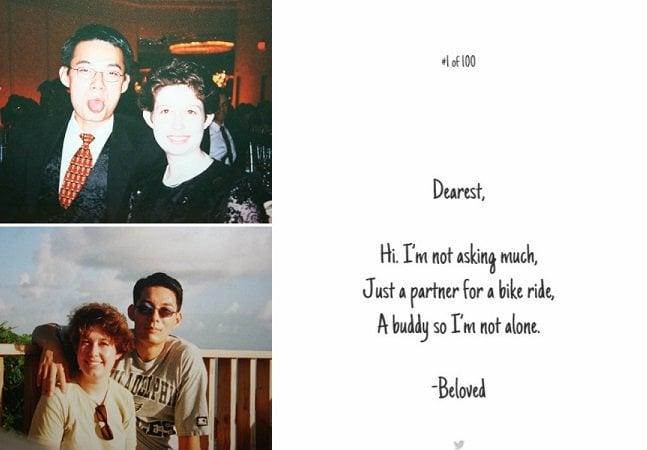 Viúvo escreve 100 bilhetes de amor para estranhos como forma de homenagear a mulher