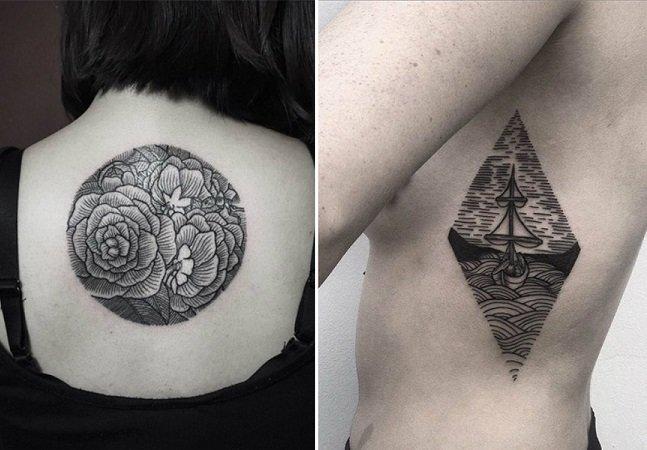Ele largou seu emprego para se dedicar a criar estas incríveis tatuagens geométricas