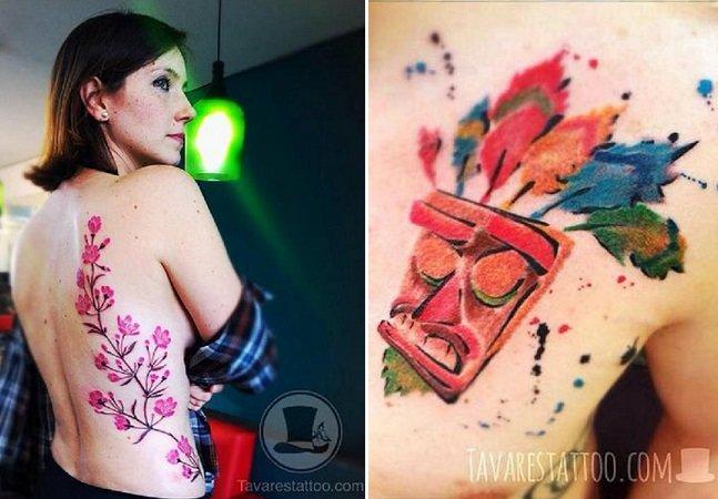 Brasileiro se inspira em aquarelas para criar tatuagens incríveis