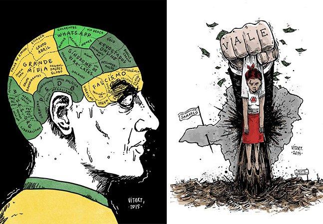 12 ilustrações incríveis do artista que usa seu talento para refletir sobre os problemas do Brasil