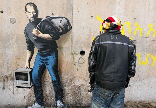 Banksy lança novas obras de protesto em campo de refugiados na França