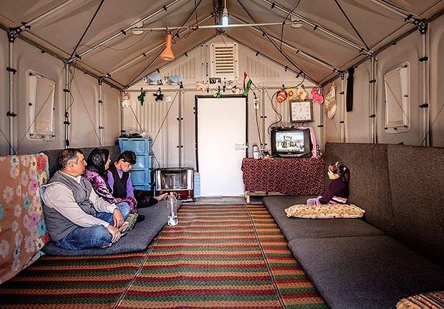 Os incríveis abrigos desenhados pela Ikea que estão mudando a vida de refugiados no Iraque