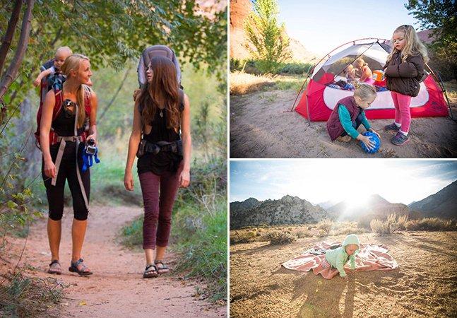 As 3 mães incríveis que estão levando seus filhos bebês para se aventurarem na natureza