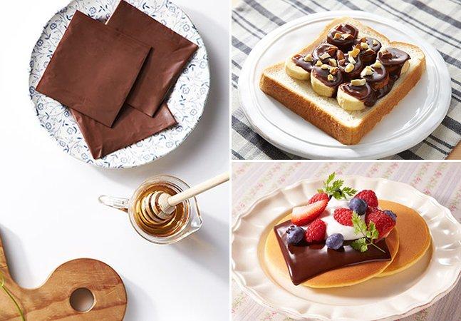 Marca japonesa cria chocolate em fatias para comer com sanduíche