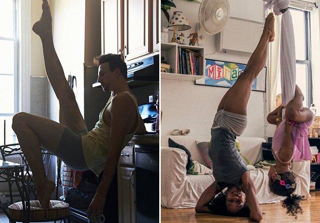 Ensaio fotográfico delicado mostra a intimidade de dançarinos em suas casas