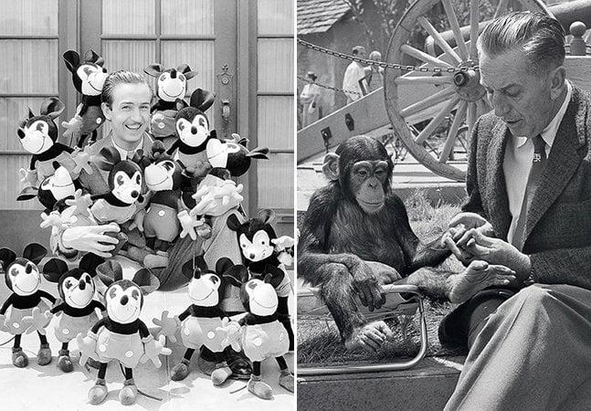 Disney celebra os 114 anos do seu fundador com fotos inéditas dos bastidores dos filmes