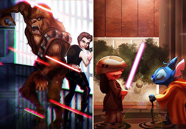 O que acontece quando as princesas da Disney entram no universo de Star Wars