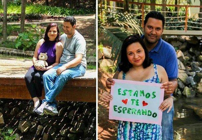 Casal brasileiro cria ensaio comovente para registrar a espera pelo filho adotivo