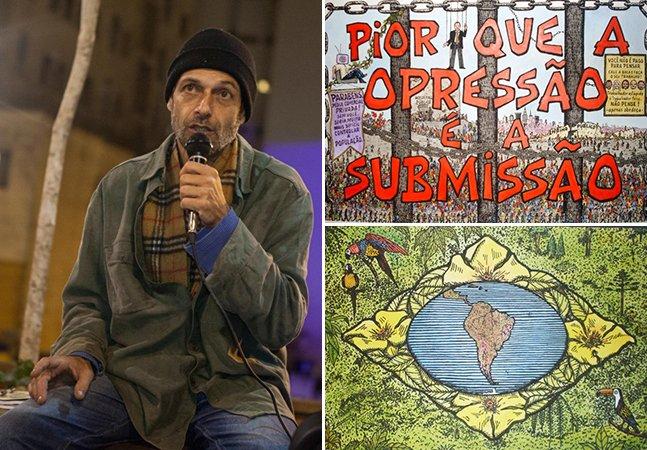 Conheça a arte contestadora do brasileiro que largou a família rica para viver nas ruas