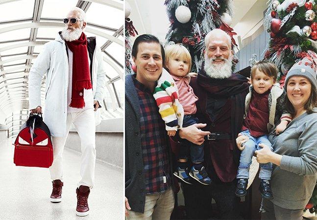 Conheça o Papai Noel mais estiloso de todos os tempos