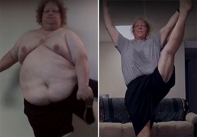 Homem cria vídeo para mostrar como perdeu 133 kg fazendo exercícios de ioga