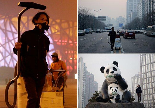 Esse artista aspirou o ar de Pequim durante 100 dias e criou um tijolo feito de poluição