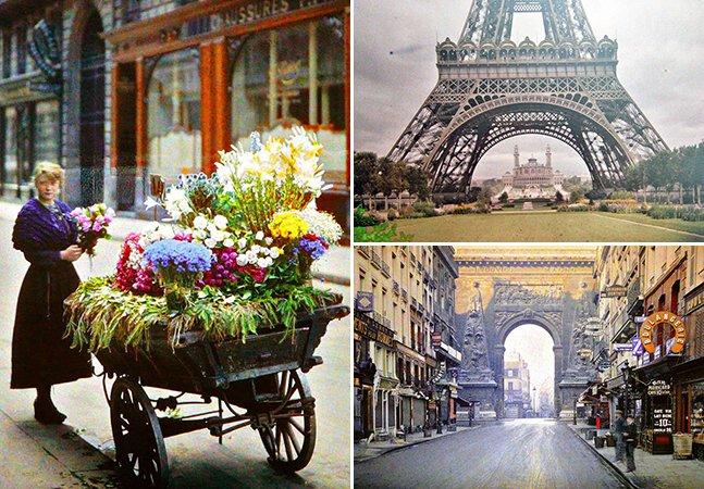 Série de fotos raras mostra o charme de Paris há 100 anos