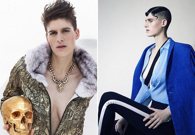 A modelo andrógina que está quebrando tabus e não liga se você pensa que ela é homem ou mulher