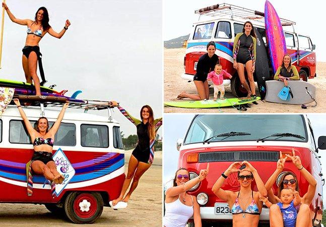 Três brasileiras rodam a América Latina ensinando surf, arte e educação ambiental